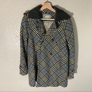 Free people plaid coat size 4